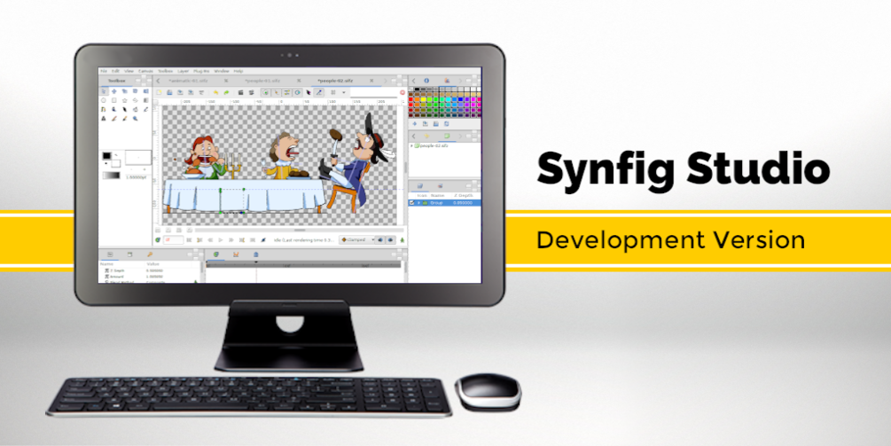 synfig free and open source animation software